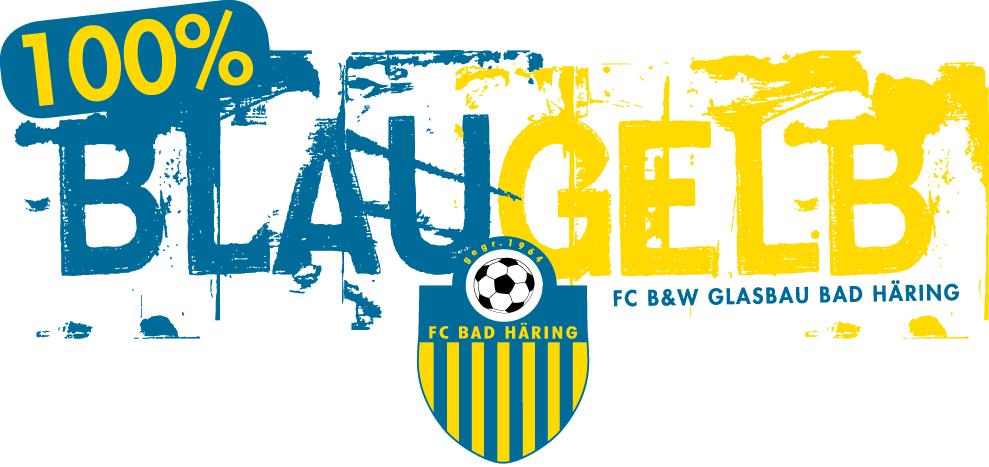 Logo FC Bad Häring - 100 % BlauGelb